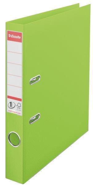 Biblioraft ESSELTE No. 1 Power, A4, plastifiat PP/PP, margine metalica, 50 mm - Vivida verde 0