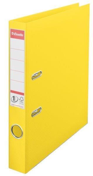 Biblioraft ESSELTE No. 1 Power, A4, plastifiat PP/PP, margine metalica, 50 mm - Vivida galben 0