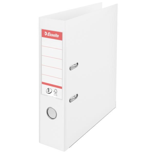 Biblioraft ESSELTE No. 1 Power, A4, plastifiat PP/PP, margine metalica, 75 mm - Vivida alb [0]