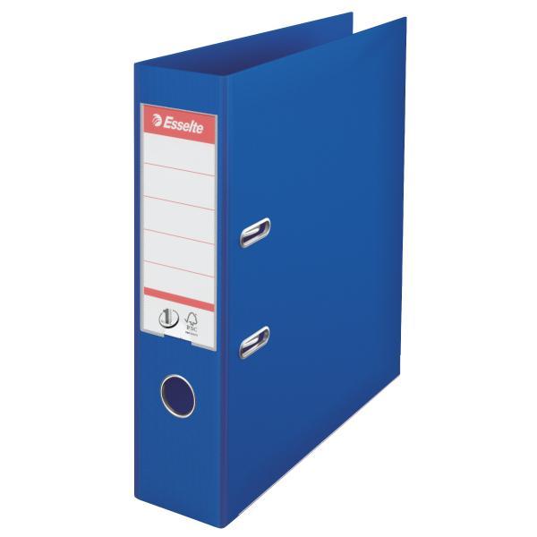 Biblioraft ESSELTE No. 1 Power, A4, plastifiat PP/PP, margine metalica, 75 mm - albastru [0]
