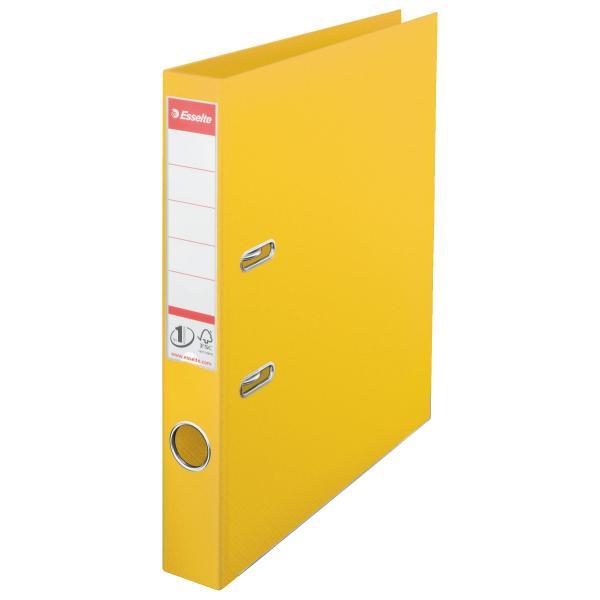 Biblioraft ESSELTE No. 1 Power, A4, plastifiat PP/PP, margine metalica, 50 mm - galben [0]