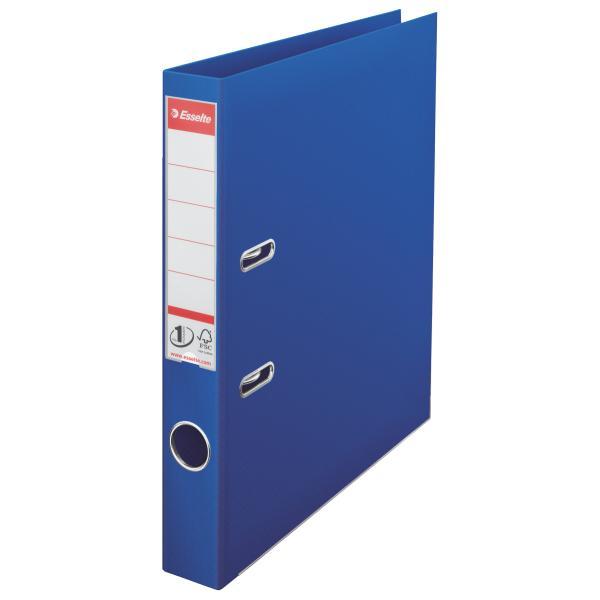 Biblioraft ESSELTE No. 1 Power, A4, plastifiat PP/PP, margine metalica, 50 mm - albastru [0]