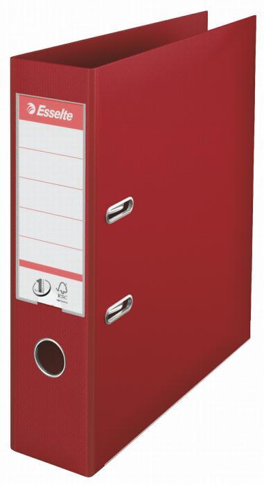 Biblioraft ESSELTE No. 1 Power, A4, plastifiat PP/PP, margine metalica, 75 mm - visiniu 0