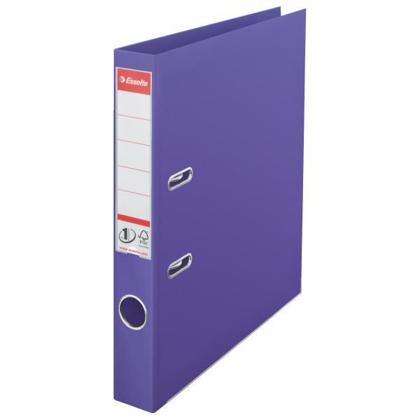 Biblioraft ESSELTE No. 1 Power, A4, plastifiat PP/PP, margine metalica, 50 mm - mov 0