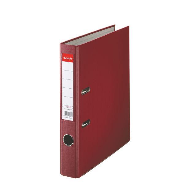 Biblioraft ESSELTE Economy, A4, plastifiat PP, margine metalica, 50 mm - visiniu [0]