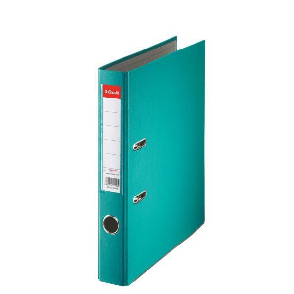 Biblioraft ESSELTE Economy, A4, plastifiat PP, margine metalica, 50 mm - turcoaz 0