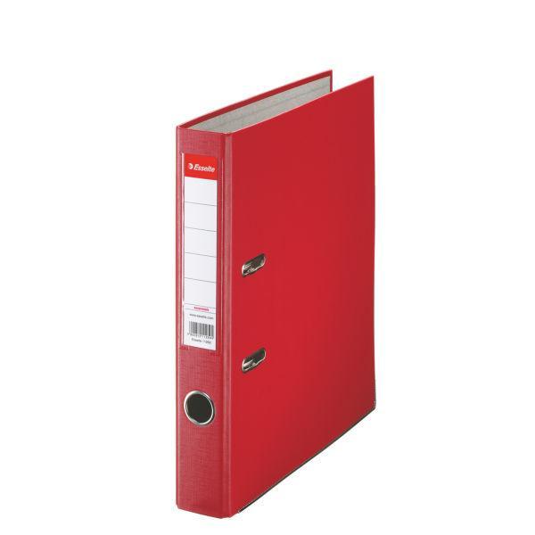 Biblioraft ESSELTE Economy, A4, plastifiat PP, margine metalica, 50 mm - rosu [0]