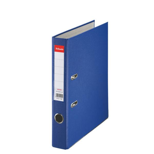 Biblioraft ESSELTE Economy, A4, plastifiat PP, margine metalica, 50 mm - albastru 0