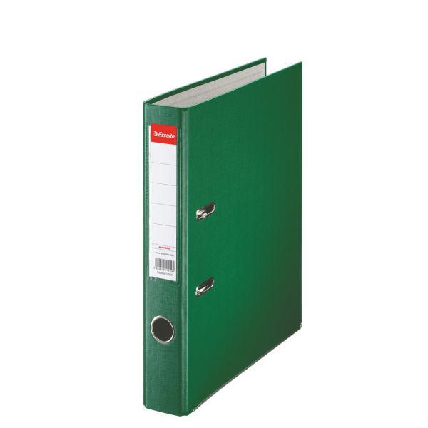 Biblioraft ESSELTE Economy, A4, plastifiat PP, margine metalica, 50 mm - verde 0