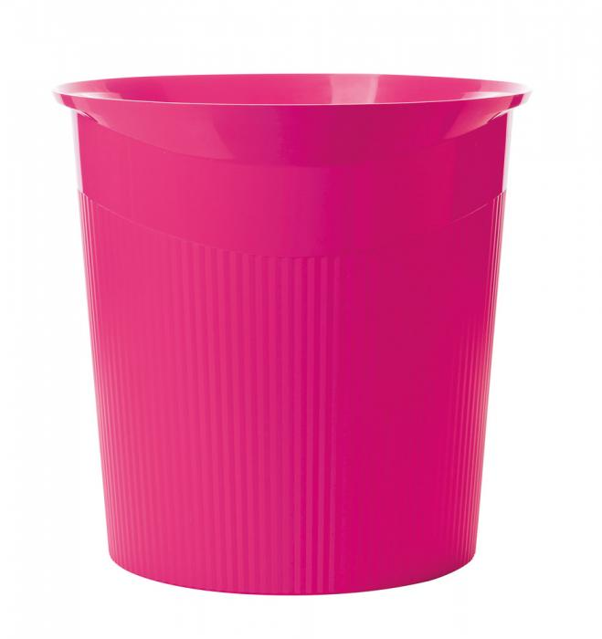 Cos de birou pentru hartii, 13 litri, HAN Loop Trend-Colours - roz 1