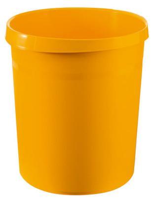Cos de birou pentru hartii, 18 litri, HAN Grip - galben 2