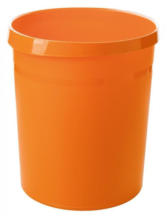 Cos de birou pentru hartii, 18 litri, HAN Grip Trend-Colours - orange 1