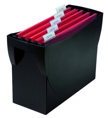 Suport plastic pentru 20 dosare suspendabile, HAN Swing - negru [0]
