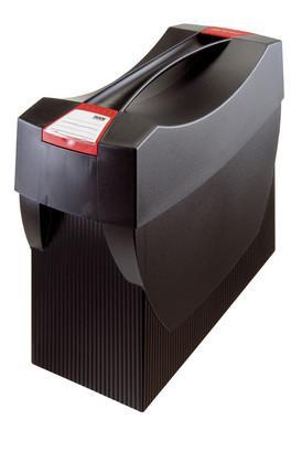 Suport plastic pentru 20 dosare suspendabile, cu capac, HAN Swing Plus - negru 1