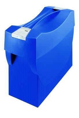 Suport plastic pentru 20 dosare suspendabile, cu capac, HAN Swing Plus - albastru [0]