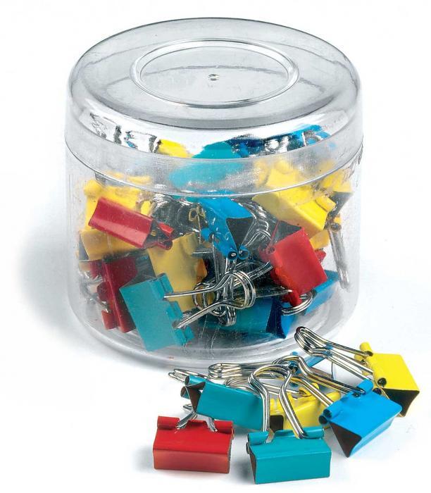Clips hartie 15mm, 50buc/cutie, culori asortate 0