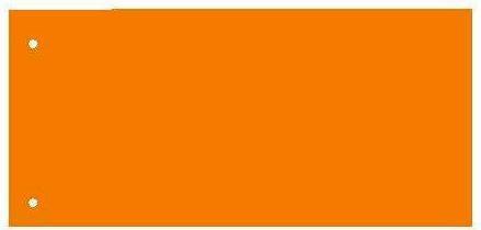 Separatoare carton pentru biblioraft, 180 g/mp, 105 x 240 mm, 100/set, KANGARO - orange [0]