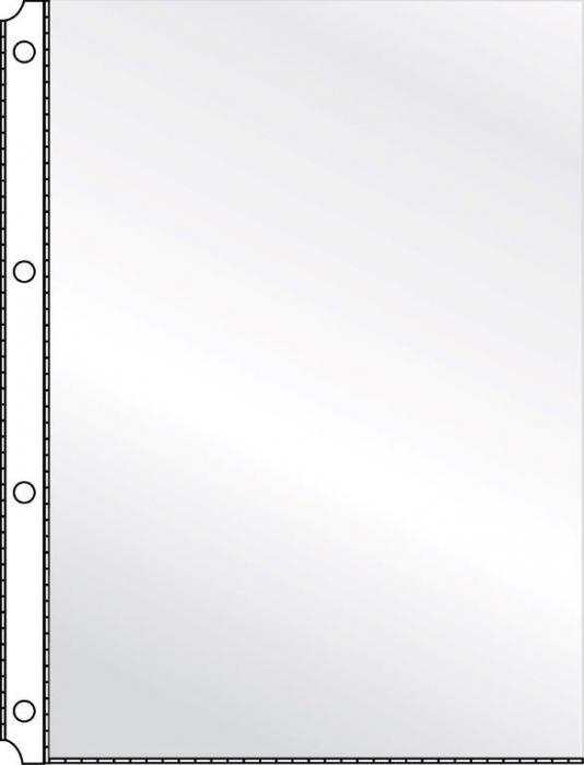 Folie protectie pentru documente A4, 120 microni, 10/set, KANGARO - cristal 0