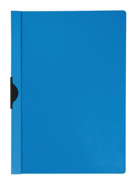 Dosar din plastic cu clema metalica Q-Connect - albastru 0