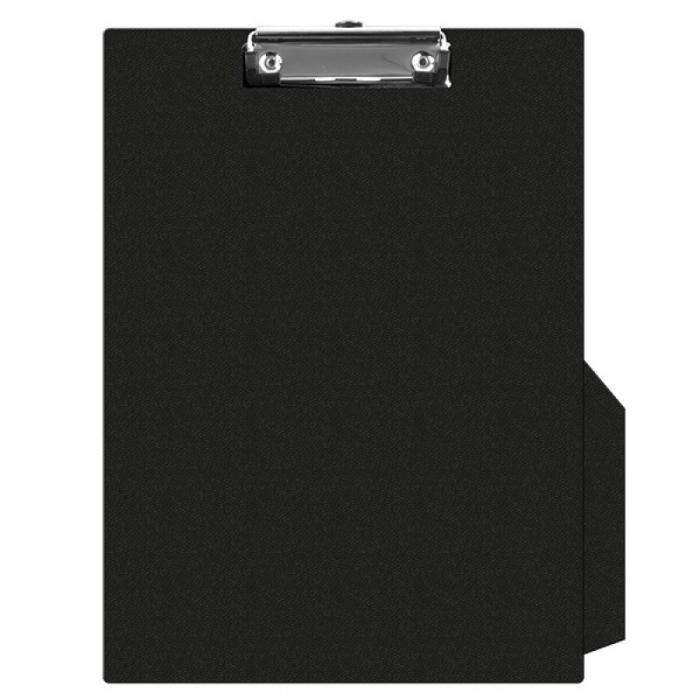 Clipboard simplu A4, plastifiat PVC, Q-Connect - negru 0