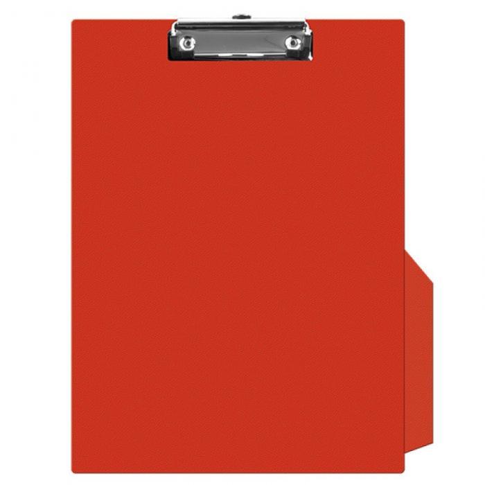 Clipboard simplu A4, plastifiat PVC, Q-Connect - rosu 0