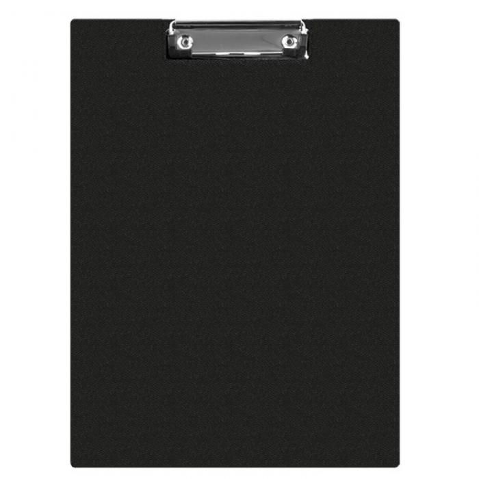 Clipboard dublu A4, plastifiat PVC, Q-Connect - negru [0]