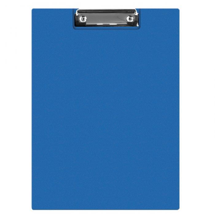 Clipboard dublu A4, plastifiat PVC, Q-Connect - albastru 0