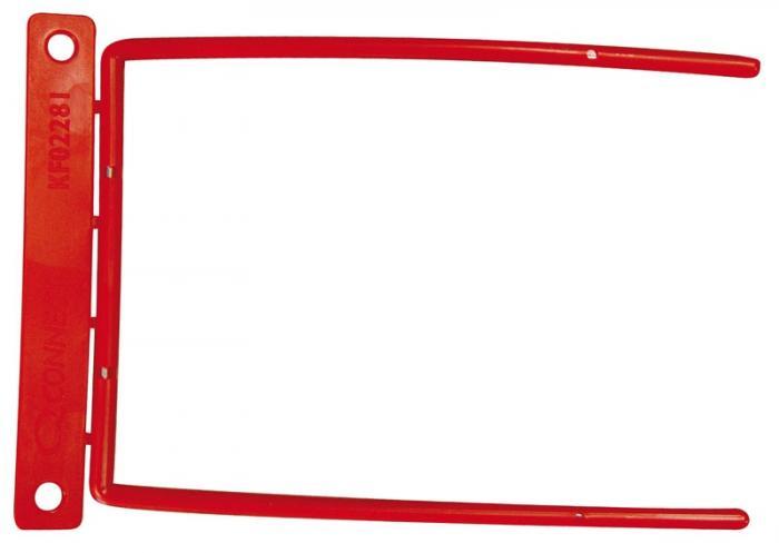 Alonja de mare capacitate, pentru arhivare, insertie metalica, 100buc/set, Q-Connect D-Clip - rosie [0]