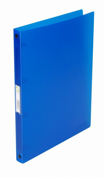 Caiet mecanic 4 inele - D16mm, coperti flexibile PP, Q-Connect - albastru transparent [0]