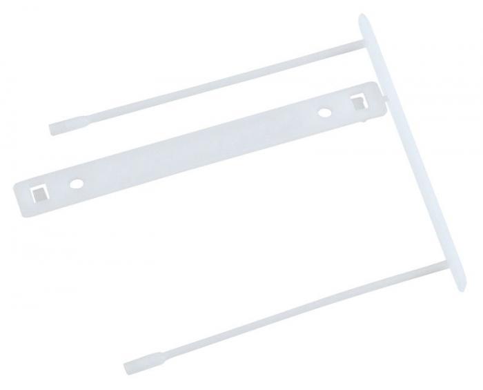 Alonja de mare capacitate, pentru arhivare, plastic, 100buc/set, Q-Connect Z-Clip - alba [0]