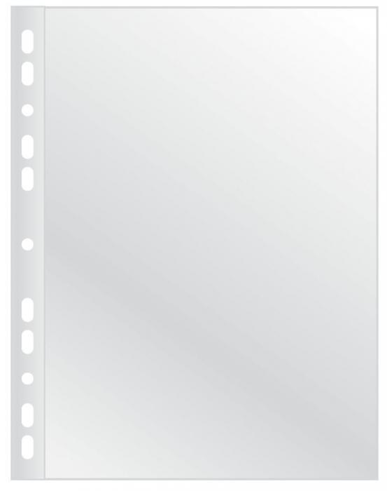 Folie protectie pentru documente, 100 microni, 100folii/set, Q-Connect - cristal 0
