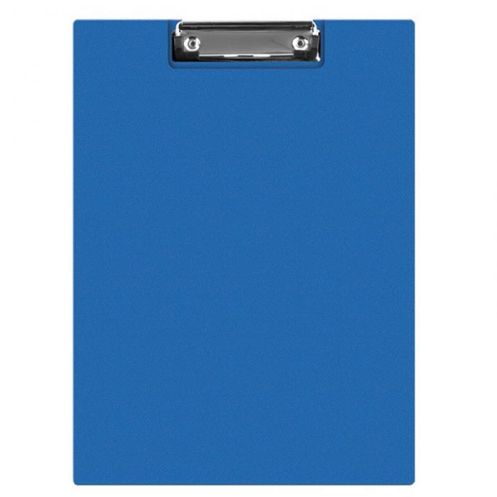 Clipboard dublu A5, plastifiat PVC, Q-Connect - albastru 0