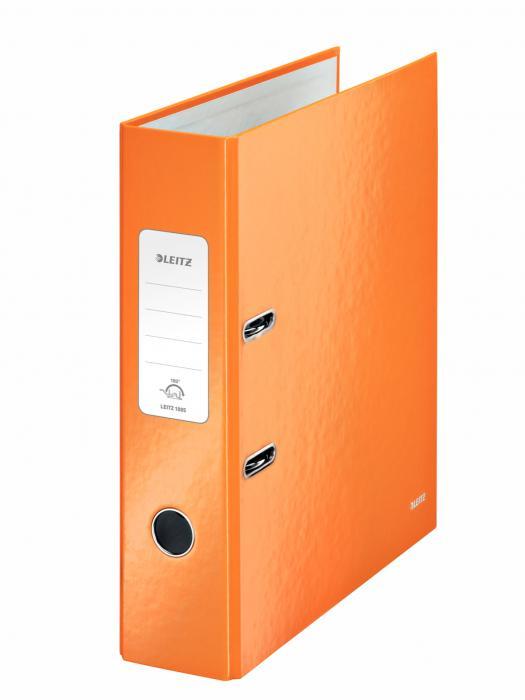 Biblioraft LEITZ 180 Wow, A4, 85mm, carton laminat - portocaliu metalizat [0]
