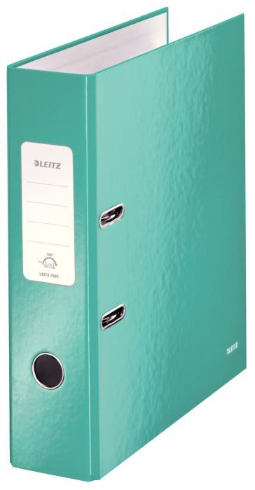 Biblioraft LEITZ 180 Wow, A4, 85mm, carton laminat - turcoaz metalizat [0]