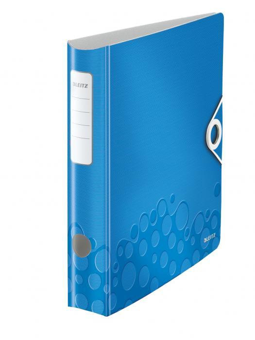 Biblioraft LEITZ Active Wow 180, A4, 50 mm, polyfoam - albastru metalizat 0