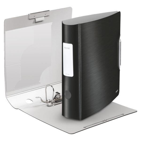 Biblioraft LEITZ Active Style 180, 75mm, polyfoam - negru satin 0