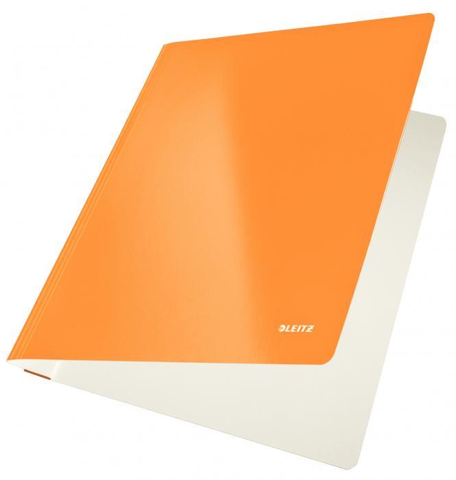 Dosar carton LEITZ Wow cu sina, capacitate 250 coli - portocaliu metalizat [0]