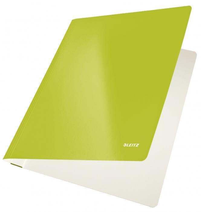 Dosar carton LEITZ Wow cu sina, capacitate 250 coli - verde metalizat [0]