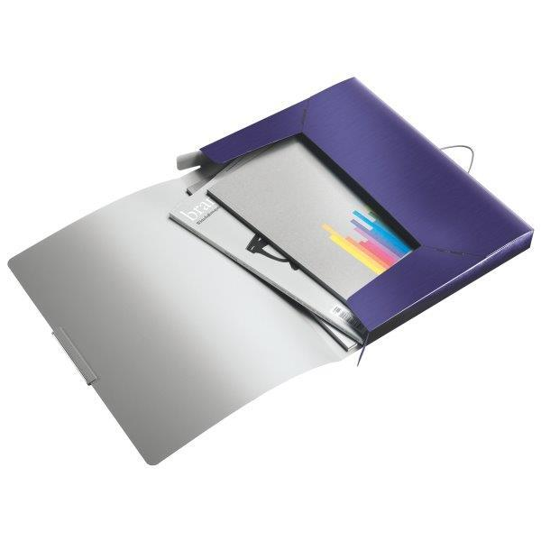 Mapa LEITZ Style Jumbo, plastic PP, 30mm - albastru-violet [0]