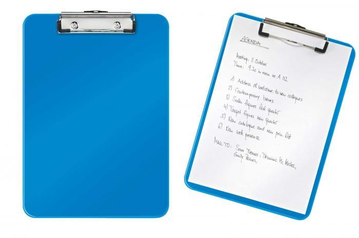 Clipboard simplu LEITZ Wow, PS - albastru metalizat [0]