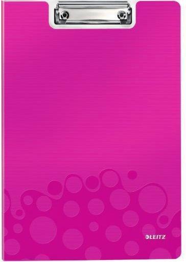 Clipboard dublu LEITZ Wow, PP - roz metalizat [0]
