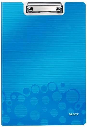 Clipboard dublu LEITZ Wow, PP - albastru metalizat [0]