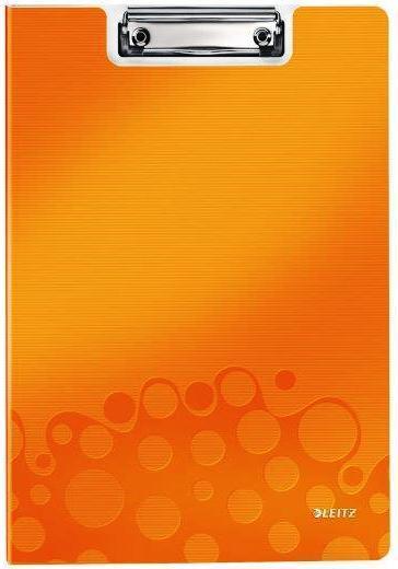 Clipboard dublu LEITZ Wow, PP - portocaliu metalizat [0]