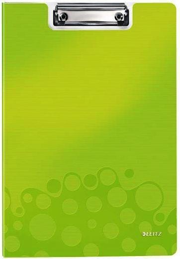 Clipboard dublu LEITZ Wow, PP - verde metalizat [0]