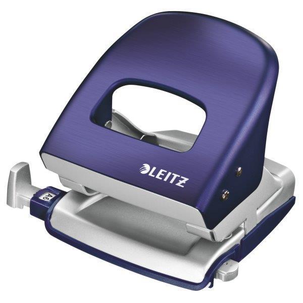 Perforator metalic LEITZ 5006 Style NeXXt Series, 30 coli - albastru titan 0