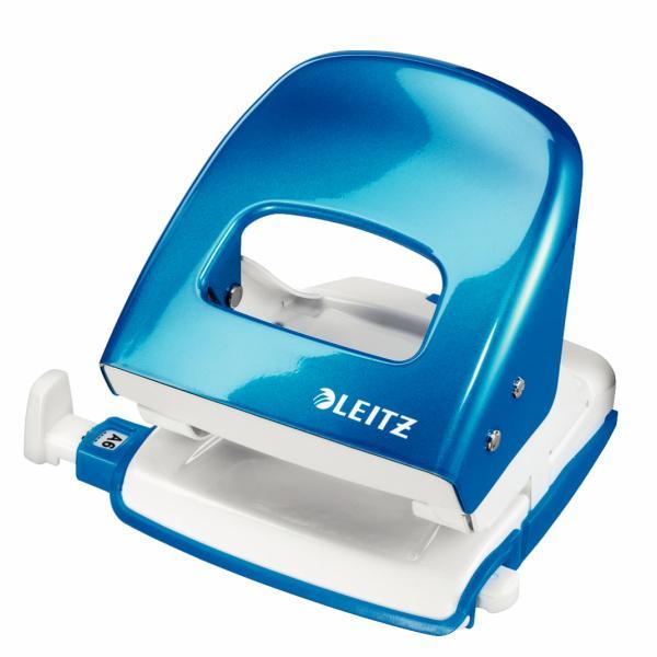 Perforator metalic LEITZ WOW 5008 NeXXt Series, cutie, 30 coli - albastru metalizat 1