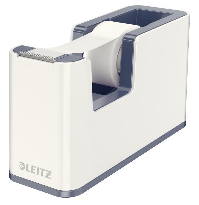 Dispenser cu banda adeziva inclusa LEITZ Wow, culori duale - gri/alb 0