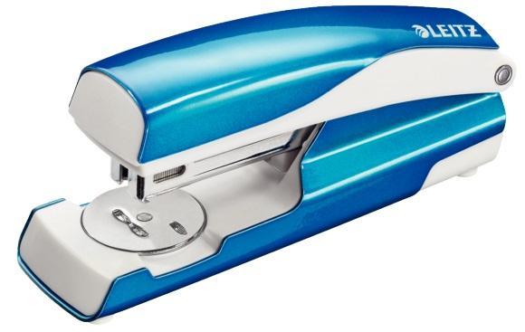 Capsator metalic, LEITZ WOW 5502 NeXXt Series, cutie, 30 coli - albastru metalizat 2
