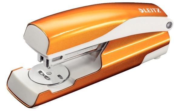 Capsator metalic, LEITZ WOW 5502 NeXXt Series, cutie, 30 coli - portocaliu metalizat 2