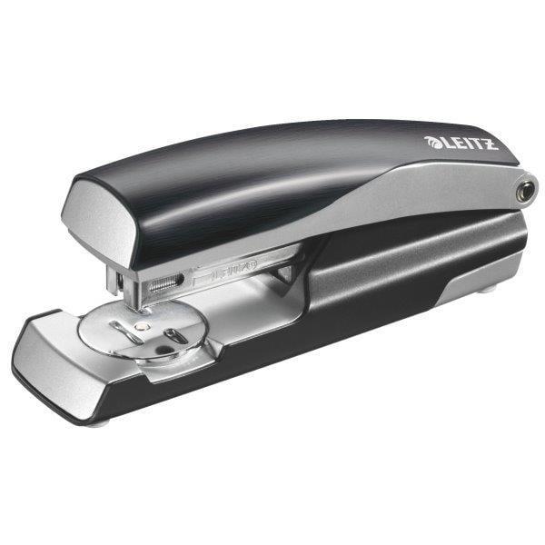 Capsator metalic LEITZ Style 5562 NeXXt Series, cutie, 30 coli - negru satin 0